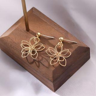 Noverkski - Flower Drop Earring / Clip-On Earring