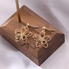 Noverkski - 花朵耳坠 / 夹式耳环