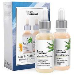 InstaNatural - Day & Night Skin Duo - Retinol and Vitamin C Serum