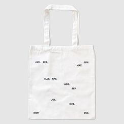 BABOSARANG - Number Embroidered Canvas Shopper Bag