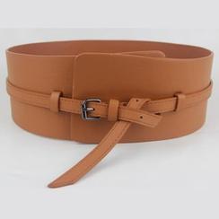 Goldenrod - Wide Faux Leather Belt