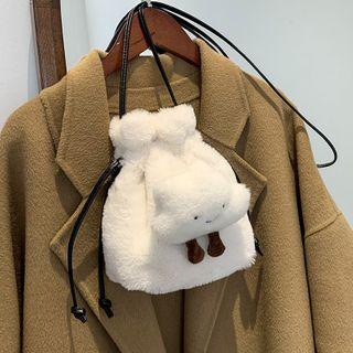 Skyglow(スカイグロウ) - Fleece Drawstring Bucket Bag