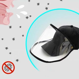 Cap Station - Removable Baseball Cap with Face Shield