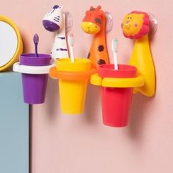 Case in Point - 动物吸盘挂墙式牙刷杯子