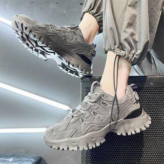 TATALON - 网纱拼接字母系带运动鞋