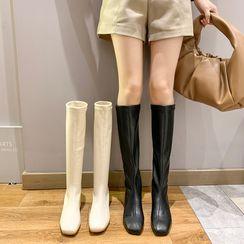 Nikao - 拉鏈粗跟短靴 / 長靴
