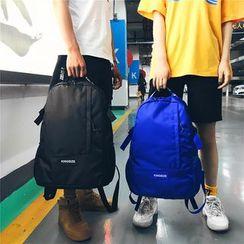 SUNMAN - Lettering Strap Canvas Backpack