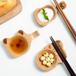 Home Simply - Wooden Saucer with Chopsticks Rest
