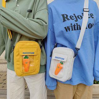 Baggis - Carrot Canvas Crossbody  Bag