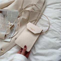 Tiff - Plain Flap Crossbody Phone Pouch