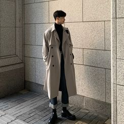 Obikan - Double Breasted Long Trench Coat
