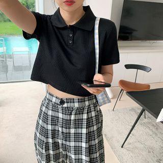 CERA - Plain Short-Sleeve Polo Shirt