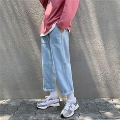 Cowpow - Washed Wide-Leg Jeans