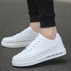 Chariot - Platform Stitched Lettering Sneakers