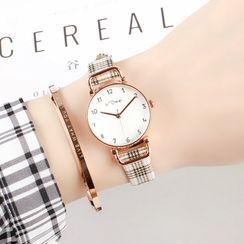 Epoca - Plaid Strap Watch
