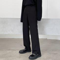 Bjorn - 纯色侧开衩裤
