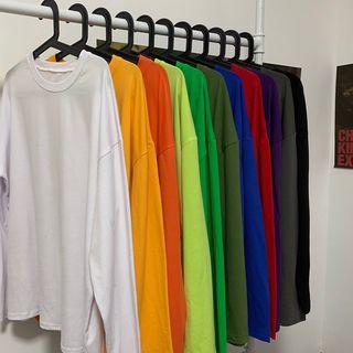MELLO - Long-Sleeve Plain T-Shirt