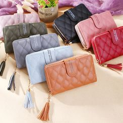 Bonnie Lonny - Tassel Quilted Faux Leather Wallet