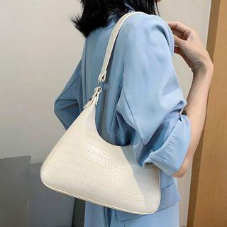 NewTown - Croc Grain Shoulder Bag