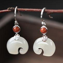 Cinnabar - Chinese Style Earring