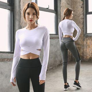 PAIYIGE - 套装: 运动胸衣 + 长袖T裇 + 瑜伽裤