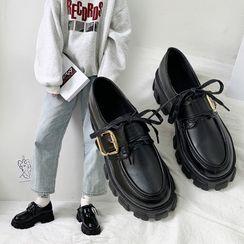 Arpeggi - Buckled Platform Loafers