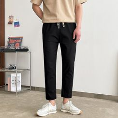 Seoul Homme(ソウルオム) - Drawcord-Waist Tapered Pants
