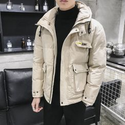 Ninine - Padded Lettering Zip Jacket