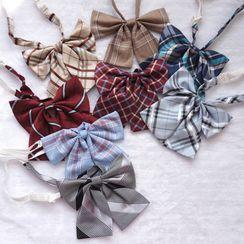 Candy House - 格子蝴蝶结领带