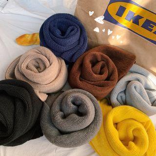 Real Boy - 纯色针织围巾