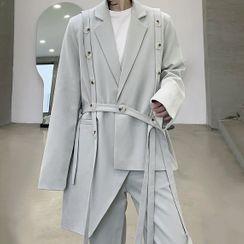 ANCHO - Button Detail Blazer / Wide-Leg Dress Pants / Set