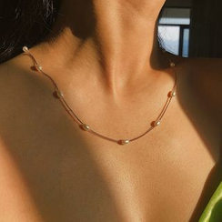 Seirios - Faux Pearl Necklace / Anklet
