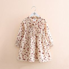 Seashells Kids - Kids Long-Sleeve Floral Dress