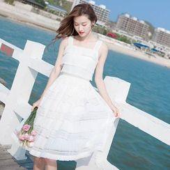 MIDUONI - Sleeveless A-Line Lace Dress