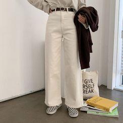 MERONGSHOP - Cotton Wide-Leg Pants