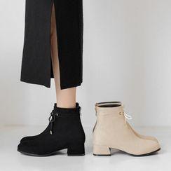 佳美 - 粗跟短靴