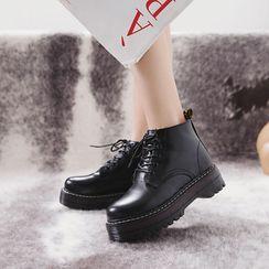 Artiz - Platform Lace Up Short Boots