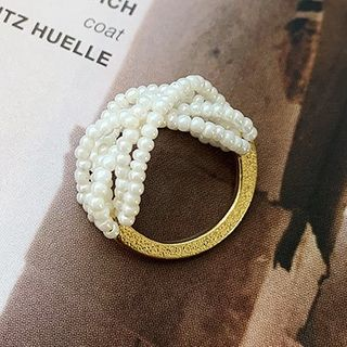True Glam - Faux Pearl Ring