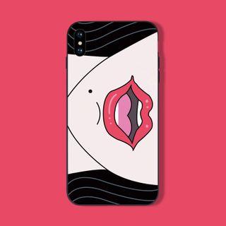 Midnight Lotus - Cartoon Lips Print Mobile Case - iPhone 11 Pro Max / 11 Pro / 11 / XS Max / XS / XR / X / 8 / 8 Plus / 7 / 7 Plus / 6s / 6s Plus
