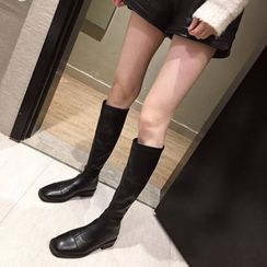 Alisse - Low Heel Tall Boots