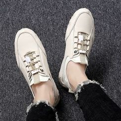 MARTUCCI - Genuine Leather Drawstring Sneakers