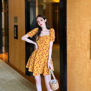 12th Tone - Short-Sleeve Floral Sundress