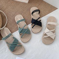 Red Wolf - Strappy Slide Sandals