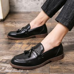 WeWolf - Braided Tasseled Faux-Leather Loafers