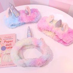 Yuja Girl - Chenille Unicorn Face Wash Headband