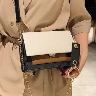 Kunado - Contrast Panel Crossbody Bag