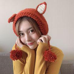 FROME - 狐狸耳朵毛线耳罩