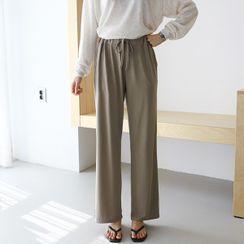 Seoul Fashion - Drawstring-Waist Pants