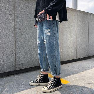 MOWAK - Distressed Boyfriend Jeans