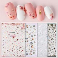 WGOMM - Pegatinas para uñas 3D de flores sakura